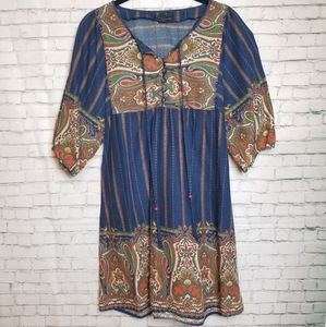 XXI boho paisley tunic dress